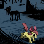 apple_bloom_(mlp) cub curse equine escape female feral friendship_is_magic hair_bow horror horse mammal monster my_little_pony night nightmare_fuel pony red_eyes ruins running scared story_of_the_blanks undead village wolfy-t young zombie  Rating: Safe Score: 9 User: Lightning Date: July 07, 2011
