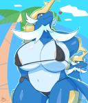 <3 ?! anthro areola big_breasts bikini breasts clothing duo female gearfactory mammal mustelid nintendo otter pokémon samurott solo_focus swimsuit video_gamesRating: QuestionableScore: 22User: slyroonDate: February 07, 2017