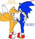 balls big_butt butt canine colored fox habbodude hedgehog male male/male mammal miles_prower ninetendo penis sanory sonic_(series) sonic_the_hedgehog standing text video_games  Rating: Explicit Score: 5 User: my_bad_english Date: February 06, 2016