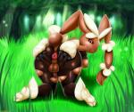 anthro anus backsack balls big_anus big_butt breasts butt cotton dickgirl editanthro fluff forest grass intersex lagomorph legwear looking_at_viewer looking_back mammal mega_evolution mega_lopunny nature nintendo nipples open_mouth outside pokémon presenting presenting_hindquarters puffy_anus rabbit solo spreading stockings tall_grass thecon therealshadman tree video_games voluptuous wide_hips   Rating: Explicit  Score: 8  User: Anonymosity101  Date: September 06, 2014
