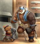 aboriginal age_difference amputee blacksmith blush duo father feline hammer headband lion mammal parent prosthetic sandals size_difference son takataka tools weapon weaponsmith   Rating: Safe  Score: 2  User: Zest  Date: March 28, 2015