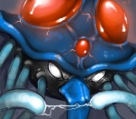 ambiguous_gender angry electricity empty_eyes feral grey_background nintendo pokémon pokémon_(species) simple_background solo tentacles tentacruel tojo_the_thief video_games white_eyes