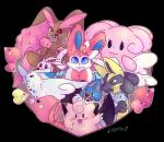 alternate_color anthro blissey buckteeth canine clefairy eeveelution fur ghetarts goomy group hi_res holidays lagomorph lopunny lucario luvdisc mammal nintendo pink_fur pokémon shiny_pokémon swoobat sylveon teeth togekiss valentine's_day video_games waddling_head