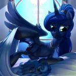 2015 absurd_res clothing digital_media_(artwork) doll equine female feral friendship_is_magic hi_res horn mammal my_little_pony plushie princess_luna_(mlp) solo stoic5 teats underwear winged_unicorn wings   Rating: Questionable  Score: 19  User: Robinebra  Date: February 26, 2015