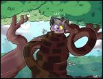 2017 anthro asphyxiation blush canine chloe_(iamaneaglet) coiling disney drooling female freckles fur hypnosis iamaneagle_(artist) jungle_book kaa_(jungle_book) mammal mind_control open_mouth reptile saliva scalie serpentine smile snake spiral_eyes wolfRating: SafeScore: 11User: IAMANEAGLEtDate: November 07, 2017