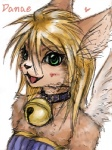 anthro bell blonde_hair cat collar danae feline female fren green_eyes hair legend_of_mana mammal mana_(series) pinup pose solo video_games  Rating: Safe Score: 2 User: LadyFuzztail Date: December 30, 2008""