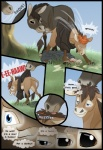 ambiguous_gender comic donkey duo english_text equine feral grass hair hooves human male mammal spirit_pup text transformation tree wood   Rating: Safe  Score: 7  User: TheDigiFurFan  Date: August 05, 2012