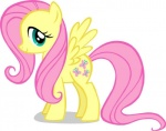 cutie_mark equine feathered_wings feathers female feral fluttershy_(mlp) friendship_is_magic hair long_hair mammal my_little_pony pegasus pink_hair solo wings yellow_feathers