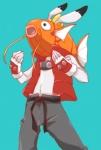 ambiguous_gender anthro ayumu3 crossover fish flesh_whiskers king_kazma lagomorph magikarp male mammal marine nintendo pokémon rabbit simple_background solo summer_wars video_games  Rating: Safe Score: 5 User: chdgs Date: October 18, 2014