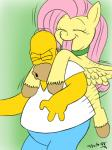 collar duo equine female feral fluttershy_(mlp) friendship_is_magic homer_simpson human licking male mammal my_little_pony pegasus plain_background the_simpsons tomtornados tongue tongue_out wings yellow_skin   Rating: Safe  Score: 6  User: cowboy_brony  Date: May 15, 2015