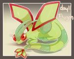 2013 5:4 ambiguous_gender clue_(artist) crouching digital_media_(artwork) feral flygon hi_res looking_at_viewer membranous_wings nintendo pokémon pokémon_(species) solo video_games wings