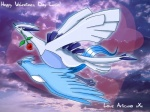 articuno articuno_(artist) avian bird blue_eyes blue_feathers blue_skin flower legendary_pokémon lugia nintendo pokémon rose video_games white_skin   Rating: Safe  Score: 1  User: dark_yveltal  Date: August 18, 2013