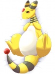 2015 achi ampharos bed blush butt female feral half-closed_eyes looking_at_viewer lying nervous nintendo nude on_bed pokémon presenting pussy shadow solo spread_legs spreading subtle_vagina sweat video_games  Rating: Explicit Score: 13 User: N7 Date: February 21, 2015