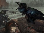 aaron_miller atmospheric_perspective avian beak bird blood bone building corpse corvid crow death feral group human magic_the_gathering mammal official_art red_eyes signature solo_focus standing undead white_eyes zombie  Rating: Questionable Score: 3 User: Circeus Date: April 18, 2016