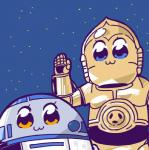 :3 ambiguous_gender bkub blue_eyes c-3po duo eyelashes machine mechanical poptepipic r2-d2 robot space star_wars what yellow_eyes  Rating: Safe Score: 6 User: ROTHY Date: May 10, 2015""