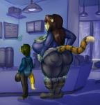 2013 anthro balls belly big_balls big_breasts big_penis bobert breasts butt chubby feline female hair hyper hyper_penis long_hair male mammal mustelid otter penis size_difference smile tiger   Rating: Questionable  Score: 4  User: Bobert  Date: October 28, 2013