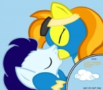 2011 blue_hair cloud cloudscape comic dialogue duo english_text equine eyes_closed eyewear female feral friendship_is_magic goggles hair horse kissing male mammal my_little_pony orange_hair outside pony saliva simple_background skinsuit sky soarin_(mlp) spitfire_(mlp) taharon text wonderbolts_(mlp)   Rating: Safe  Score: 4  User: 133710|2|)  Date: September 02, 2011