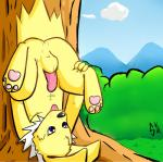 anus balls blue_eyes butt eeveelution feral hindpaw jolteon male nintendo paws penis pokémon sirkiller solo upside_down video_games  Rating: Explicit Score: 8 User: Chikita Date: January 24, 2016