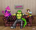 anthro arthropod bee big_butt bulge butt chameleon charmy_bee clothing crocodile crocodilian espio_the_chameleon girly group insect legwear lizard male reptile scalie sonic_(series) sonicharinezumi stockings thong vector_the_crocodile  Rating: Questionable Score: 3 User: WhiteWhiskey Date: April 20, 2016