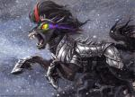 2014 armor black_hair cloud equine eye_mist fangs feral friendship_is_magic glowing glowing_eyes hair horn king_sombra_(mlp) male mammal my_little_pony open_mouth outside portrait red_eyes sharp_teeth slit_pupils smoke snow solo sophiecabra spikes teeth tess_garman traditional_media unicorn   Rating: Safe  Score: 7  User: 2DUK  Date: July 09, 2014