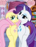 2015 big_butt blue_eyes butt butt_bump cutie_mark dock duo equine female feral fluttershy_(mlp) friendship_is_magic hair hi_res horn horse inside looking_at_viewer looking_back makeup mammal my_little_pony pink_hair pony presenting presenting_hindquarters purple_hair raised_tail rarity_(mlp) shutterflyeqd smile unicorn white_body yellow_bodyRating: QuestionableScore: 6User: Cat-in-FlightDate: April 22, 2018