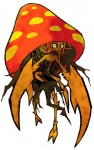 alternate_species ambiguous_gender anthro arthropod claws fungi_fauna humanoid humanoidized insect monster monstrous_humanoid mushroom nintendo parasect plant pokémon pokémon_(species) pokémorph solo unknown_artist video_games