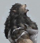 biceps big_muscles canine captainjohkid clothing fangs flakjacket0204 fur grey_fur growth human male mammal muscle_growth muscles open_mouth pecs plain_background shirt solo teeth toned torn_clothing transformation were werewolf white_background  Rating: Safe Score: 3 User: Vanzilen Date: June 30, 2015""