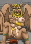 2015 anklet anthro areola big_breasts blue_eyes bracers breasts chest_pussy claws egyptian erect_nipples feline female furball headdress jewelry kafri licking licking_lips looking_at_viewer mammal multi_breast multi_nipple navel necklace nipples pussy solo sphinx tongue tongue_out wings  Rating: Explicit Score: 15 User: ultragamer89 Date: July 26, 2015