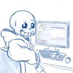 1:1 4chan animated_skeleton bone clothing computer hoodie humanoid looking_at_viewer looking_back male not_furry sans_(undertale) skeleton solo topwear undead undertale unknown_artist video_gamesRating: SafeScore: 11User: NujiDate: October 14, 2016