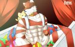 2013 <3 abs anthro biceps big_muscles canine christmas duo erection fur gift hat holidays humanoid_penis looking_at_viewer male mammal muscles nude penis smile wolf zoharwolf  Rating: Explicit Score: 0 User: *Sellon* Date: July 27, 2015