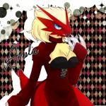 abstract_background amelie_(character) anthro avian bird blaziken blonde_hair blue_eyes breasts cleavage clothed clothing dress eyelashes female hair lemoco lemoco99 nintendo open_mouth pokémon short_hair solo video_games   Rating: Safe  Score: 5  User: DeltaFlame  Date: February 07, 2015