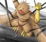 2007 anthro audie-gryph avian bdsm beak bondage bound brown_feathers claws crying eyes_closed feathers gryphon hanging leather male penis penis_milking solo suspension tapering_penis tears  Rating: Explicit Score: 4 User: Lizardite Date: January 01, 2015