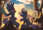 2015 ambiguous_gender changeling cloud equine eyes_closed fangs female feral fluttershy_(mlp) friendship_is_magic group hair hi_res horn long_hair mammal my_little_pony outside pegasus pink_hair sitting tree wildhound wings  Rating: Safe Score: 2 User: lemongrab Date: November 25, 2015