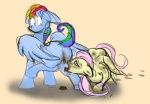 2015 duo eating_shit equine feces female feral fluttershy_(mlp) friendship_is_magic hair long_hair mammal my_little_pony pegasus rainbow_dash_(mlp) scat tria_(artist) wings  Rating: Explicit Score: -1 User: Tria Date: June 10, 2015