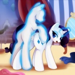 all_fours anus cutie_mark doggystyle duo equine eyeshadow female feral feral_on_feral friendship_is_magic from_behind fur horn kohtek makeup mammal my_little_pony pussy rarity_(mlp) sex unicorn white_fur  Rating: Explicit Score: 29 User: masterwave Date: June 05, 2013