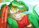 2014 anthro beach biceps big_muscles clothing crocodile eyewear league_of_legends lifeguard looking_at_viewer male muscles orange_eyes outside rabbity renekton reptile scalie seaside shirt shorts sky solo sunglasses water yellow_eyes   Rating: Safe  Score: 14  User: cole-nyaa  Date: March 07, 2014