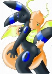 anthro bell breast_fondling breasts collar dragonite duo eeveelution female fondling nintendo pokémon pokémorph pussy shiny_pokémon tail_stimulation tongue umbreon unknown_artist video_games   Rating: Explicit  Score: 4  User: Kitsu~  Date: March 18, 2011