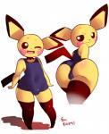 big_butt bulge butt clothing girly male nintendo pichu pokémon pokémon_(species) rizkitsuneki solo swimsuit video_gamesRating: QuestionableScore: 32User: JereburrDate: February 16, 2019