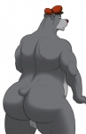 anthro backsack balls baloo bear biceps big_butt butt chubby disney fur hat looking_back male mammal muscles rear_view simple_background solo talespin vamplust  Rating: Explicit Score: 8 User: unforget Date: January 28, 2013