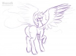 2016 butt equine feathered_wings feathers female feral friendship_is_magic hair horn long_hair mammal my_little_pony princess_celestia_(mlp) sketch solo spread_wings tongue tongue_out weasselk winged_unicorn wings  Rating: Questionable Score: 3 User: lemongrab Date: March 25, 2016