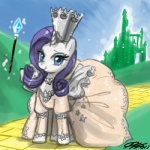 clothing crossover dress equine eyeshadow female feral friendship_is_magic glenda horn john_joseco land_of_oz makeup mammal my_little_pony parody rarity_(mlp) solo unicorn wizard_of_oz yellow_brick_road  Rating: Safe Score: 5 User: Robinebra Date: July 08, 2013