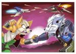 angry anthro arwing bare_shoulders belt black_nose brown_fur canine duo fingerless_gloves fox fox_mccloud fur gloves green_eyes jacket male mammal nintendo open_mouth purple_eyes scarf scottytheman shoulder_pads signature spikes star_fox teeth video_games white_fur wolf wolf_o'donnell wolfen   Rating: Safe  Score: 7  User: Cαnε751  Date: March 11, 2015