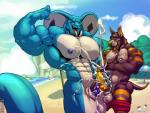 balls beach biceps big_biceps big_pecs big_penis blue_sky canine cel_shading cloud cobra cum digital_drawing_(artwork) digital_media_(artwork) dog duo erection eyes_closed frottage fur huge_muscles huge_penis hyper hyper_muscles interspecies kihu larger_male looking_pleasured male male/male mammal manly mountain muscular muscular_male naga nude open_mouth open_smile orgasm outside pecs penis reptile rock scalie seaside sex size_difference sky smaller_male smile snake snake_hood teeth tongue vein veiny_musclesRating: ExplicitScore: 8User: WolfBRDate: August 22, 2017