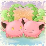 "<3 ambiguous_gender cute duo hoppip komatutororu nintendo pokémon rubbing_cheek smile video_games  Rating: Safe Score: 3 User: Neitsuke Date: November 18, 2014"""