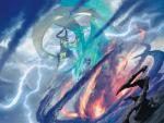 dragon fight horn lightning magic_the_gathering michael_komarck nicol_bolas planeswalker storm ugin wings   Rating: Safe  Score: 0  User: Shardshatter  Date: April 21, 2015