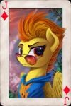 2015 card equine eyewear female feral friendship_is_magic fur hair horn horse looking_at_viewer mammal multicolored_hair my_little_pony orange_hair outside pegasus pony solo spitfire_(mlp) sunglasses two_tone_hair wings wonderbolts_(mlp) yakovlev-vad yellow_fur  Rating: Safe Score: 15 User: Somepony Date: September 08, 2015