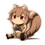 :3 animal_humanoid blazblue blush blush_stickers boots chibi clothing cute female footwear humanoid makoto_nanaya mammal rodent sitting solo squirrel squirrel_humanoid unknown_artist video_games weapon  Rating: Safe Score: 8 User: Ratty Date: April 28, 2011