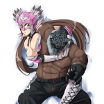 abs anthro armor_king belt biceps big_muscles breasts bulge clothed clothing duo feline female hair half-dressed human jaycee leopard male mammal mask muscles nipples pants pecs pose scar standing tekken toned topless  Rating: Questionable Score: 2 User: Munkelzahn Date: September 07, 2013