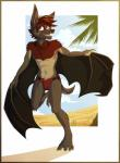 abs anthro bat biceps chest_tuft clothing fur gothwolf male mammal matthaeus muscles nipples paws pecs red_eyes swimsuit toes tuft wings  Rating: Questionable Score: 2 User: Vallizo Date: August 28, 2015