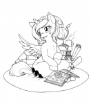 2014 black_and_white book cute cutie_mark equine female friendship_is_magic globe horn longinius mammal monochrome my_little_pony princess_luna_(mlp) smile solo winged_unicorn wings young   Rating: Safe  Score: 8  User: Robinebra  Date: June 01, 2014